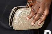Gabourey Sidibe Metallic Clutch