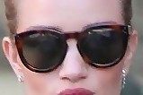 Rosie Huntington-Whiteley Oversized Sunglasses
