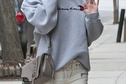 Karlie Kloss Leather Shoulder Bag