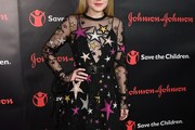 Dakota Fanning Embroidered Dress