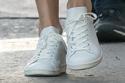 Charlize Theron Leather Sneakers
