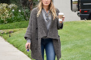 Hilary Duff Shawl-Collar Cardigan