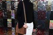 Coco Rocha Suede Shoulder Bag