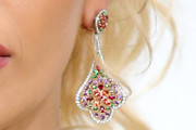 Rita Ora Dangling Gemstone Earrings