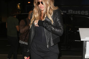 Khloe Kardashian Leather Jacket