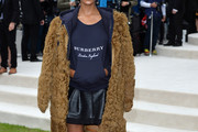 Jourdan Dunn Fur Coat