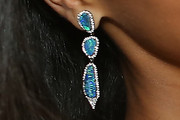 Zoe Saldana Dangling Gemstone Earrings