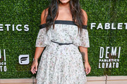 Demi Lovato Off-the-Shoulder Dress