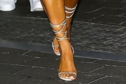 Kim Kardashian Lace-Up Heels