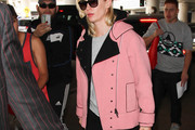 January Jones Motorcycle Jacket