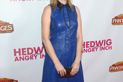 Judy Greer Leather Dress