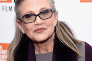Carrie Fisher Half Up Half Down